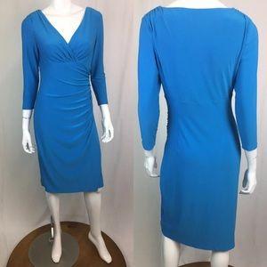 Ralph Lauren Dresses - Ralph Lauren Stretchy Jersey Faux-Wrap Dress